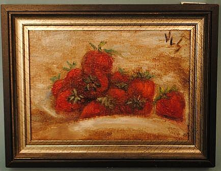 Vera L. Stephenson Painting, Strawberries