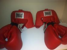 Boxing Gloves w/ Head Gear
