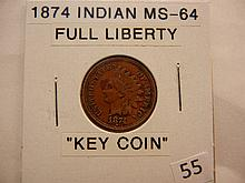1874 Indian Head Cent Key Date