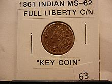 1861 Indian Head Cent Key Date