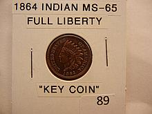 1864 Indian Head Cent Key Date