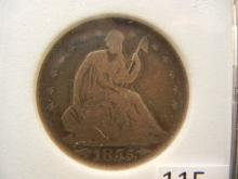 1855 O Seated Liberty Half Dollar with Arrows