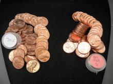 1968-S and 1970-S Memorial cent rolls.  Red Brilliant Uncirculated.