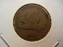 1858 Flying Eagle cent.  Small Letters.  Good.