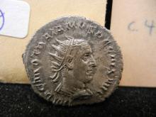 Roman Empire 249-251 Ancient Coin.  Silver Antoninianus.  Trajan Decius.  Extremely Fine.