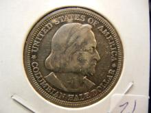 1892 Columbian Exposition Commemorative Half Dollar. Very nice with attractive toning.