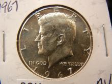 1967 Kennedy Half Dollar AU 40% Silver