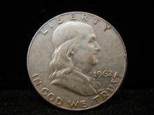 1962 -D Franklin Half Dollar