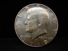 1969-D 40% silver Kennedy Half Dollar