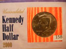 2000-D Kennedy Half Dollar by US Comm Gallery with COA