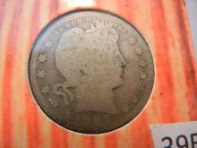 1905 Silver Barber Quarter by US Comm Gallery with COA
