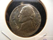 1985 Jefferson Nickel.  Broad struck.  Choice BU.