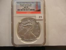 2012-S Silver Eagle.  Slabbed by NGC as perfect MS 70, Early Release.
