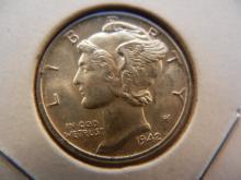 1942 Mercury Dime.  Brilliant Uncirculated.