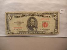 1953-A Red Seal Five Dollar Star Note