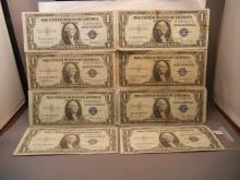 Eight - 1935 One Dollar Silver Certificates
