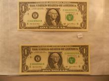 Two- 2003-A Federal Reserve Note w/Consecutive Serial Numbers