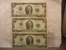 3-  1976 Two Dollar Federal Reserve Notes     2 are consecutive