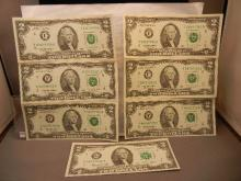 7-  1976 Two Dollar Federal Reserve Notes