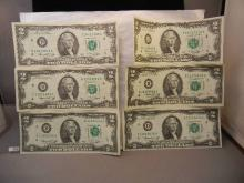 6- 1976  Two Dollar Federal Reserve Notes
