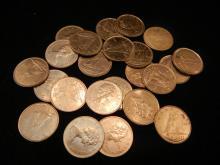 22 Canadian Dimes No Silver