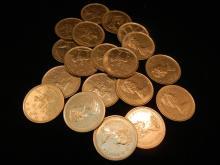 20 Canadian Quarters No Silver