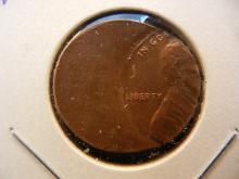 Off-Center Lincoln Cent.  BU.