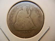 1857-O Seated Quarter.  Good.