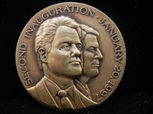Official Bill Clinton/Al Gore 1997 Inaugural Medal.  Bronze.  Original.
