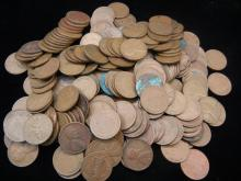 Lot of Lincoln Wheat Cents Very Few Memorial Cents