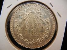 1934 Mexico One Peso.  Choice Bu.  Big silver (72%) coin.
