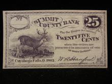 1862 Cuyahoga Falls OH Fractional Quarter.  Civil War Issue.  Choice CU.