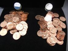 1960-D and1962 D original Red Uncirculated Lincoln Cent rolls.