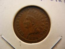 1884 Indian Cent.  Extremely Fine Detail.