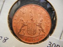 1808 East India 10 Cash High Grade