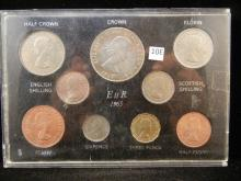 1965 Great Britain 9 Coin Set