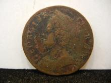 1740 Half Penny from Great Britain XF