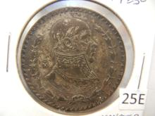 1962 1 Peso from Mexico Monster Toning