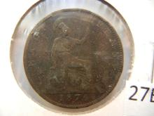 1876 Half Penny from Great Britain