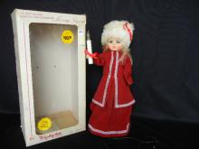 The Best Selling Animated and Illuminated  Moving Figurines  by Displayed Arts  Doll Red Dress