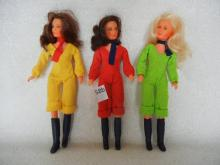 3-Charlies Angels Dolls , one arm is dislocated
