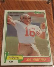 1981 Topps Football #216 Joe Montana Rookie