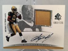 2007 SP Authentic Antonio Pittman Autographed Jersey Patch Rookie Card #/725 - Ohio State Buckeyes