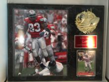 Ohio State Buckeyes Will Smith Autographed 8x10 on Plaque - Signed at Piqua Mall card Show several years ago