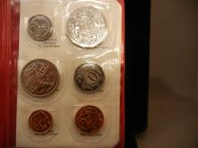 1983 Australia Mint Set.  Six coins all Brilliant Uncirculated.  Catalog Value