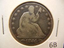 1854 Seated Liberty Half Dollar w/arrows