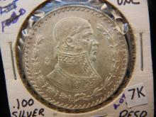 1962 Un Peso Mexican