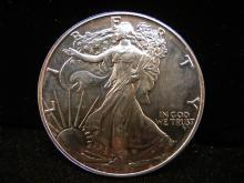 1986 American Silver Eagle .999 Fine Silver  , 1 Troy Oz.