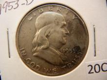 1953-D Franklin Half Dollar