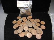 Lot of 95 Canadian Pennies